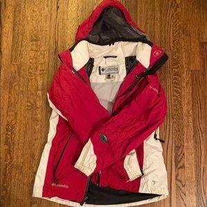 Bright Red NWT Mens M Columbia Titanium Titan Pass 1.0 Fleece Half Zip Jacket